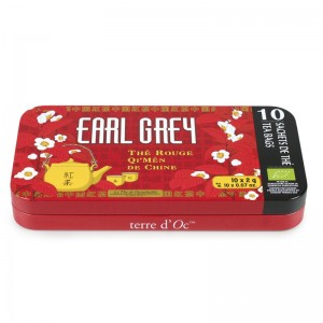Te Rojo Earl Grey con bergamota. Saquitos